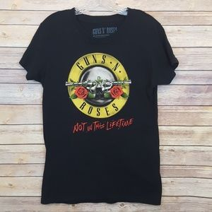 Guns N' Roses Tour Locations Graphic Band Tee